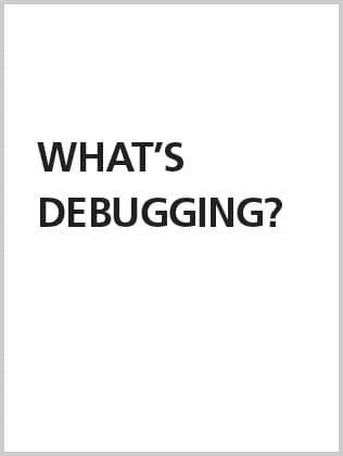 What's debugging