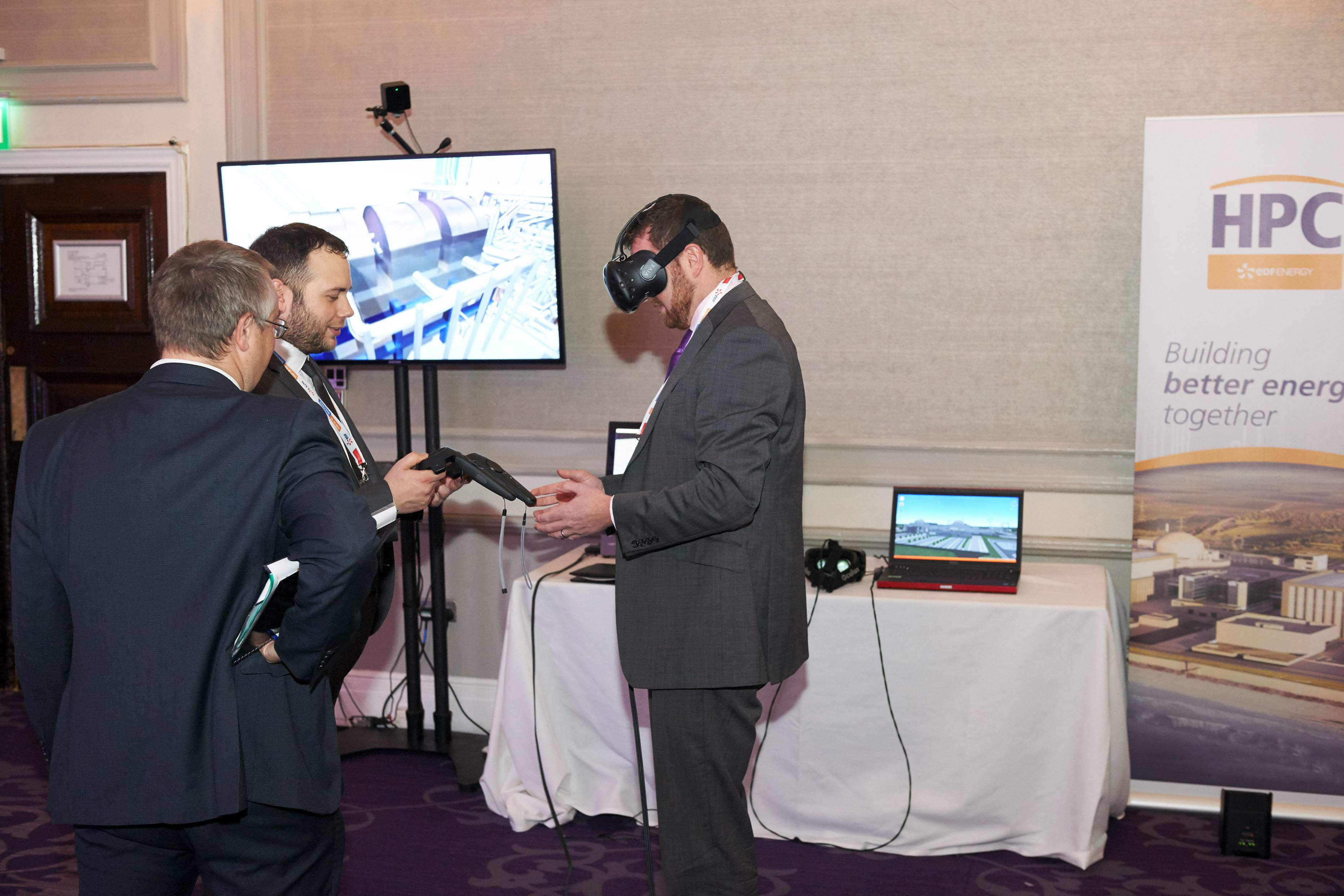 VR headset at Hinkley Point C event - October 2016