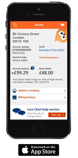 edf energy mobile app