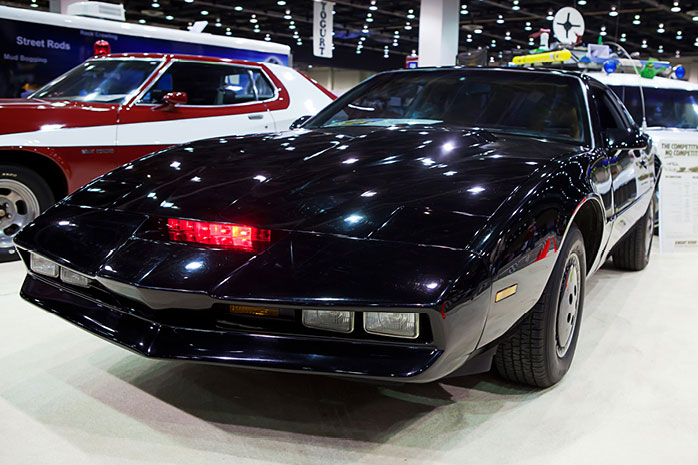 KITT from Knight Rider in a showroom