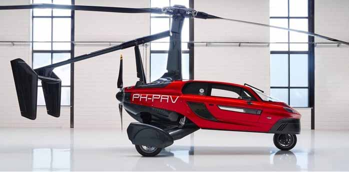 flying car PH-PAV in red