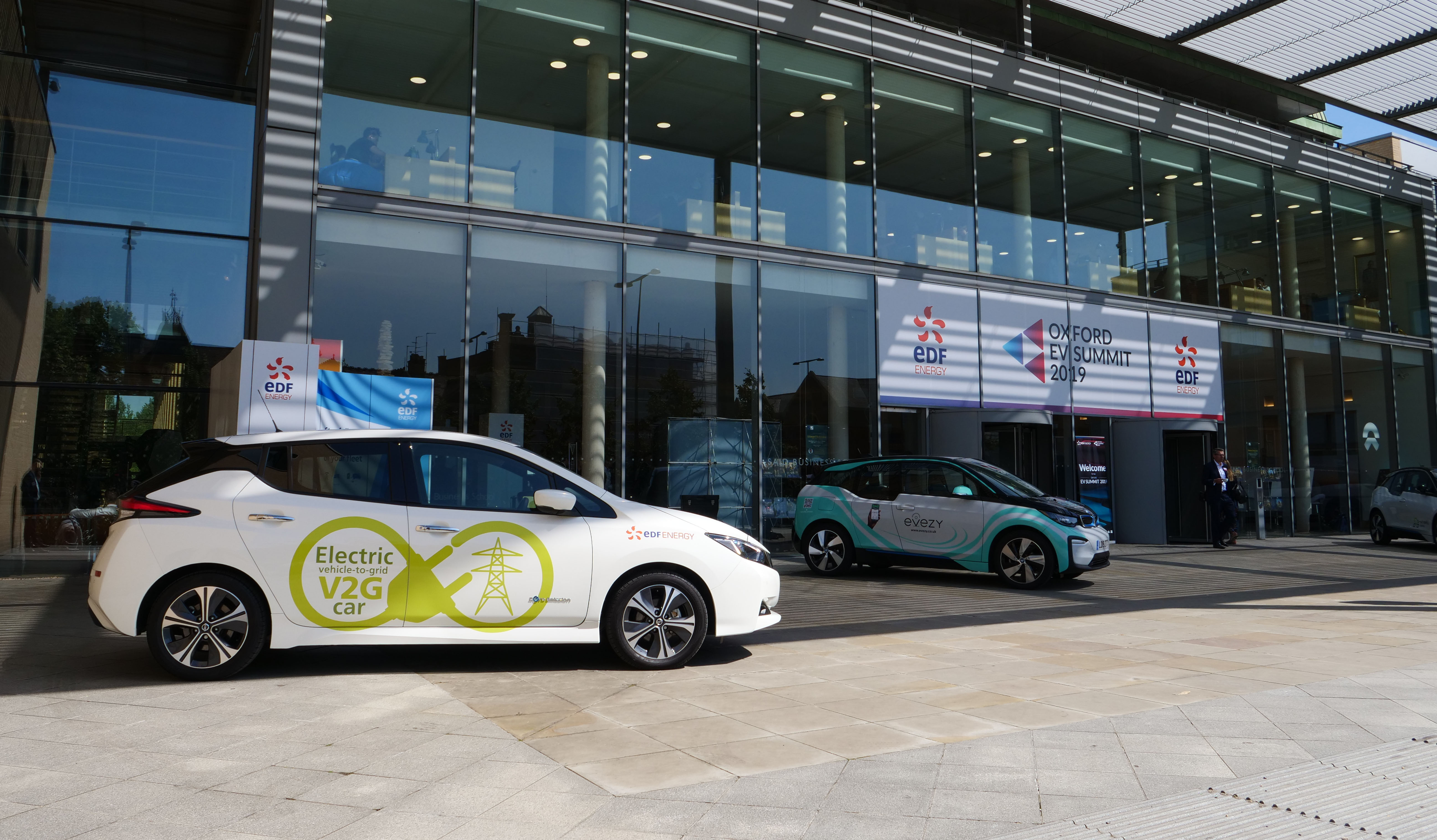 EDF Energy's Vehicle to Grid (V2G) car on show.