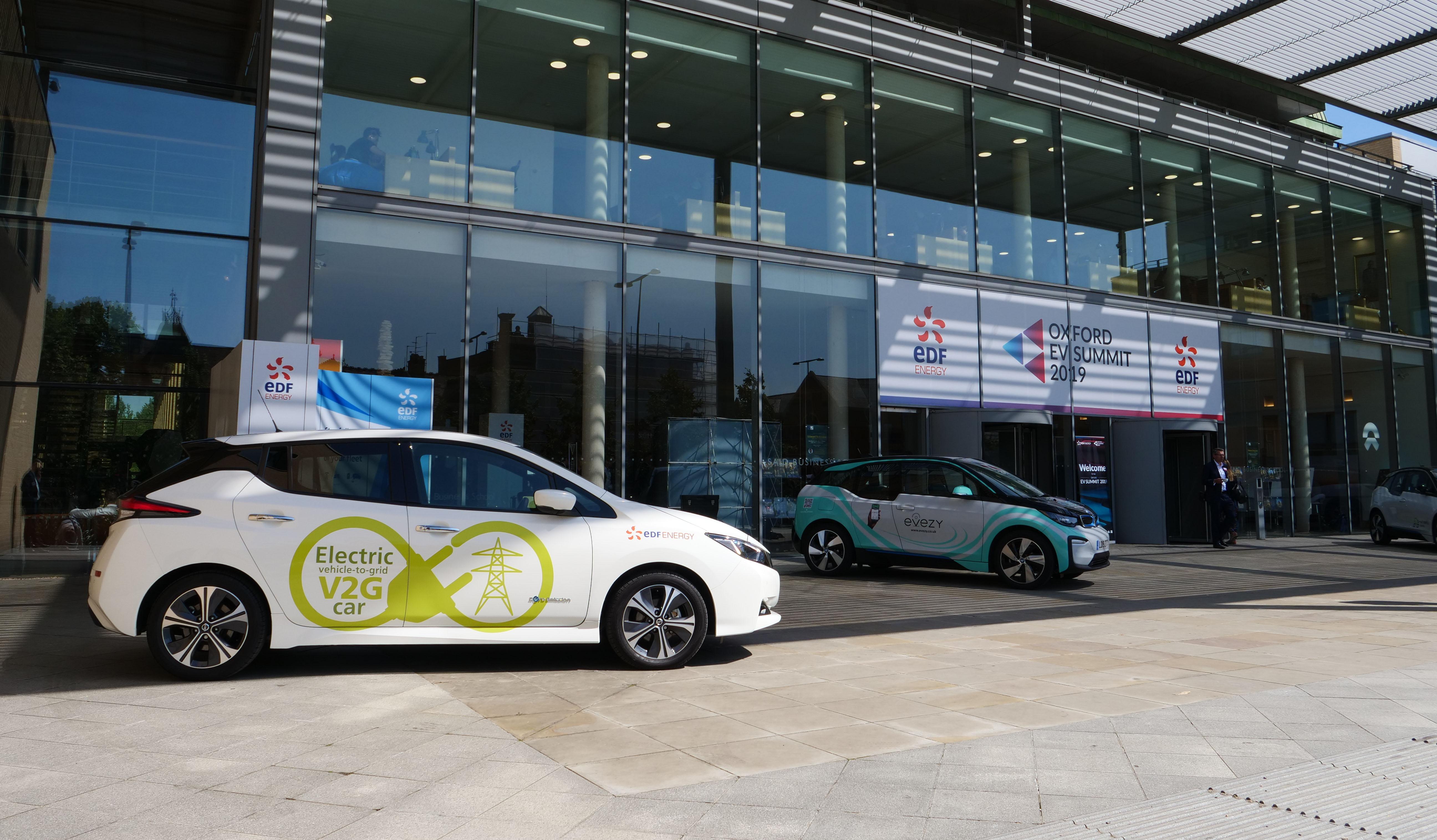 EDF Energy's Vehicle to Grid (V2G) car on show.