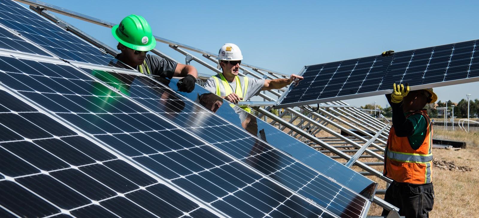 Renewable energy - solar panels