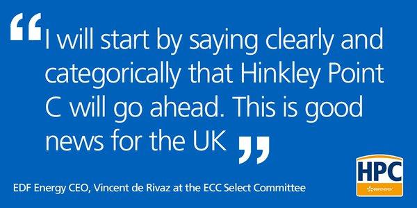 EDF Energy hinkley point C vincent de rivaz