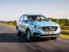 MG ZS EV front view on road