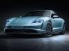 Porsche Taycan front shot in blue