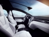 Tesla Model X interior view seating panoramic roof dashboard