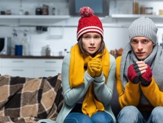 couple in a cold home