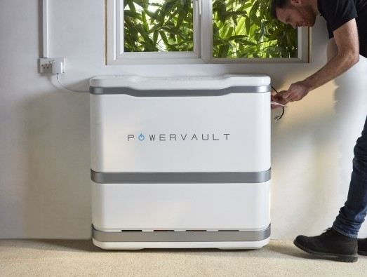 Powervault solar battery being installed by Powervault installer