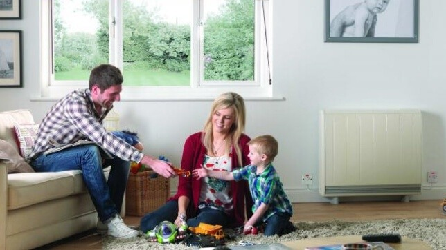 Dimplex Quantum storage heater in a family home