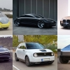 6 electric cars of the future in a grid
