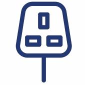 Three pin plug for electric car charging
