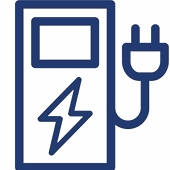 Tethered electric car charger