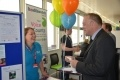Stuart Crooks, EDF Energy MD for Generation with Carly Small from Suffolk Family Carers