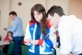 Lauren Steadman, Paralympic athlete, joins in with activities