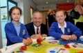 John Mann MP for Bassetlaw with pupils from Tuxford Primary Academy, Retford