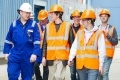 Sizewell B apprentice coordinator Roger Barge with students