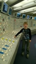 Daniel Hunt in the control room simulator