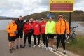 Hunterston B team takes on Five Ferries Challenge. Photo, l-r: Alan McTurk, Kenny McGillivray, Jim Lennon, Liam Smith, Fred Quinn, Andy Brown, David Wilkie, Kevin Waddell.