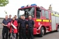 Karen Paterson, Dungeness B visitor centre coordintor with volunteers from Lydd Fire Station