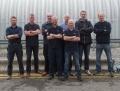 From left are Jonathan Barker, Matt Wheeler, Andy Bryan, Paul Stevens, Andy Turnbull, Gary Potter, Andy Potter and Mark Boobyer.