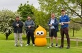 Fundraising Hinkley Point C golfers, from left, Alex Ramsay, Liam Parker, Gregor Grant and Patrick McMahon.