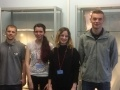 Sizewell B new apprentices Kieran Butler, Bethany Grant, Sophie Mason, Bailey Payne.