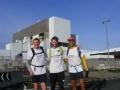 (l-r) Edwin Wright, Garry Twist and Blair Hamilton prepare for their run to Edinburgh Castle