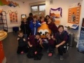 Pirniehall Primary in Edinburgh meet Zingy during Torness Visitor Centre's Christmas Cracker Week