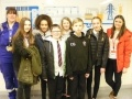 Pupils from Preston Lodge High School with Kate Goan (far left) at Torness Power Station