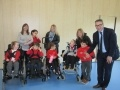 Hunterston B Station Director, Colin Weir with members of the Butterfly Club at James MacFarlane School in Ardrossan