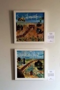 Some of the artwork by Ashford Visual Artists which is on display at the visitor centre until the end of June