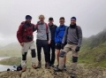 L-R: Blair Morrison, Alistair Boyd, Calum McLuckie, Christopher Barclay and Martin Gaetano during their Three Peaks challenge