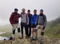 L-R: Blair Morrison, Alistair Boyd, Calum McLuckie, Christopher Barclay and Martin Gaetano during their Three Peaks challenge