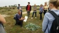 Owen Leyshon from the Romney Marsh Countryside Partnership led the nature trail