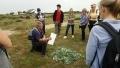 Owen Leyshon from the Romney Marsh Countryside Partnership led the nature trail