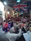 Haywardians performing at last year's 'Last Night of the Proms'