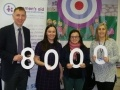 Torness Station Director Paul Winkle with Julie Watson, Marian Hay and Nancy Ross from Women's Aid - East and Midlothian