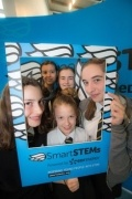 Girls attending SmartSTEMs event at Glasgow Caledonian University