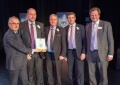 Hinkley Point C's Commercial Director Ken Owen (left) presents the award to Blackhill Engineering.