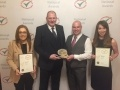 Colleen Catterson (Bylor), Iain Graham,  Lee Jones (both EDF Energy), and Emma Keen (Kier Bam) pictured with the award.
