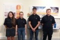 L-R: New Hunterston B apprentices Darelle Maclean (24) from Largs; Kate MacDonald (18) from East Kilbride; Lyle Higgins (17) from Saltcoats and Darren Reid (16) from Stevenson.