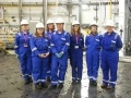 Students from Edinburgh College visiting Torness power station