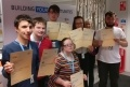 Trainees celebrate their latest achievements as part of the course.