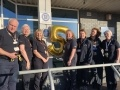 The Torness Visitor Centre guides celebrating their five star achievement