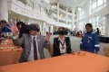 Dr Ajay Sharman, Regional Network Lead London & South East at STEM Learning UK, tries out the EDF Energy Virtual Reality headset