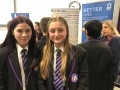 Ipswich Academy students Maddie and Lucy find out about job opportunities with Sizewell C