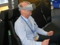 Craig Grant, from Quality Management at Torness power station tries out the Country Roads VR challenge