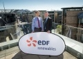 Matthieu Hue, CEO of EDF Renewables and Derek Mackay, Cabinet Secretary for Finance, Economy and Fair Work